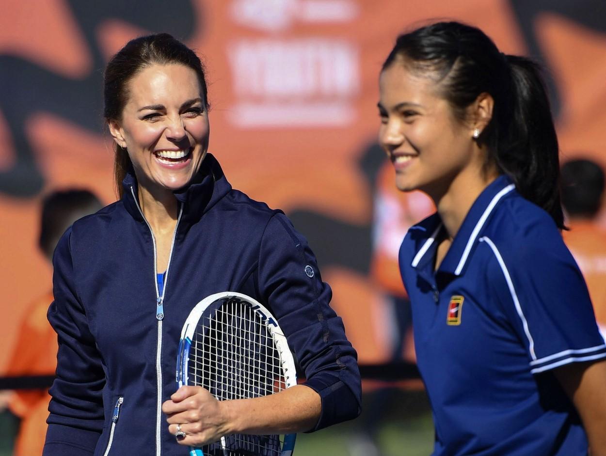 Kate Middleton și Emma Răducanu, împreună pe terenul de tenis