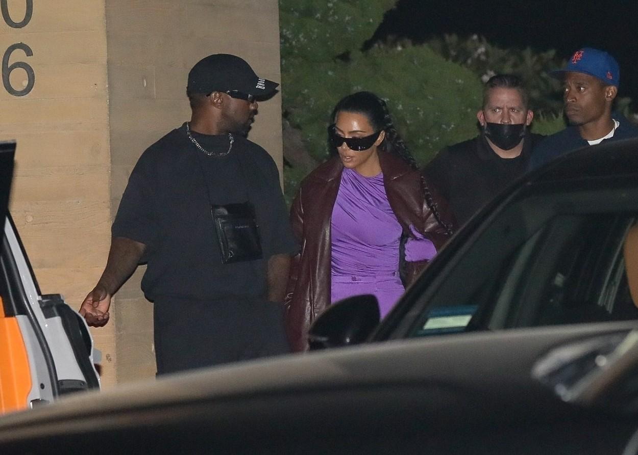 Kim Kardashian și Kanye West, la restaurant împreună, la Nobu în Malibu